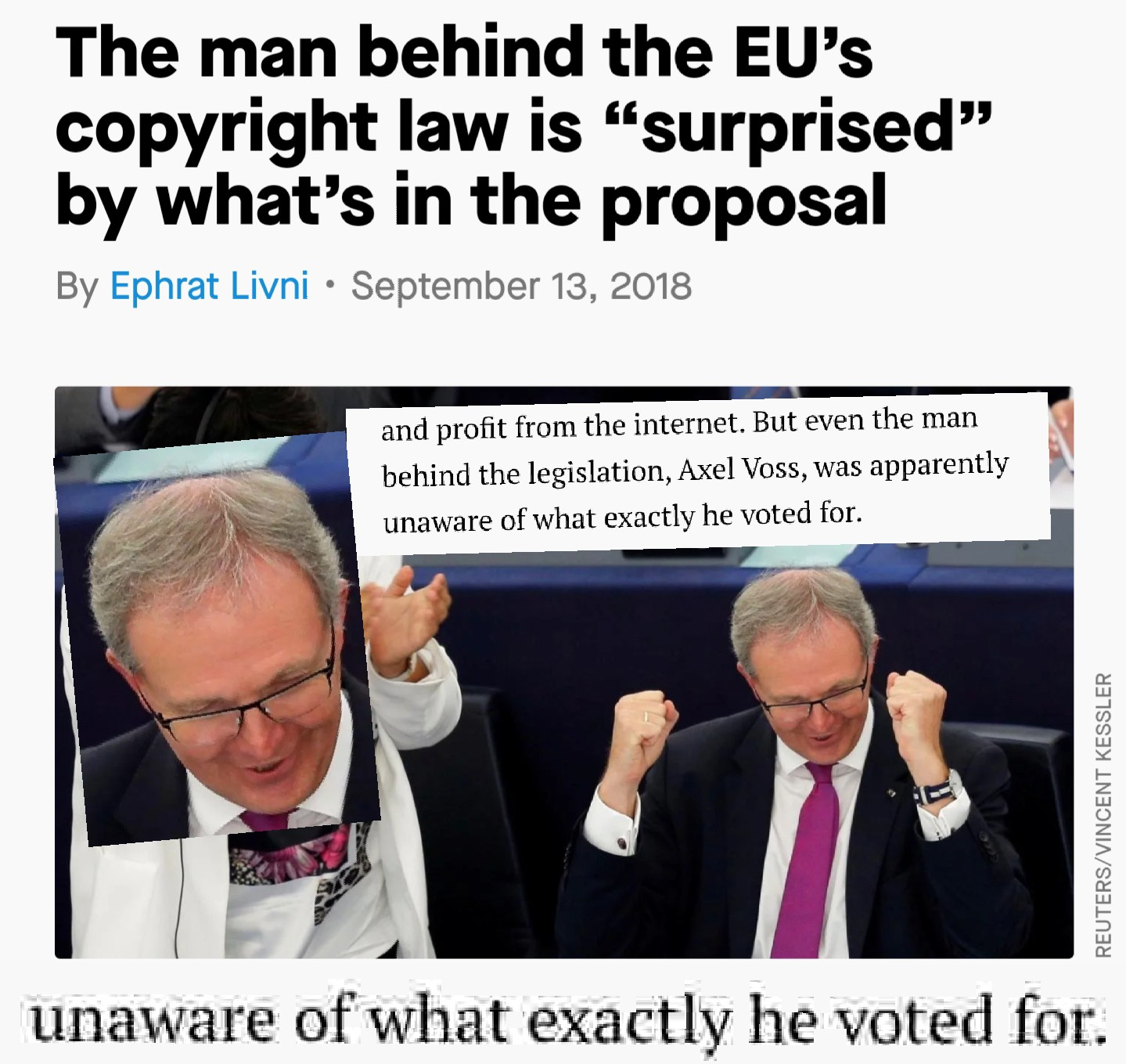 The Man Behind The Eus Copyright Law Is Surprised By