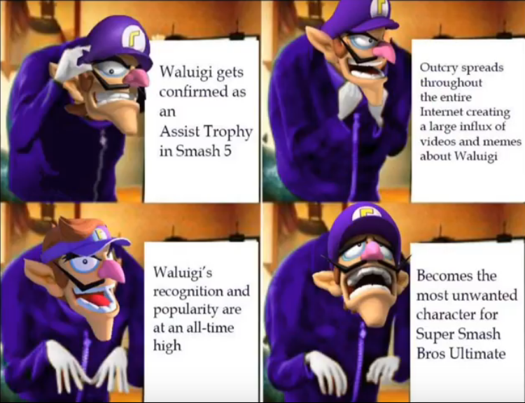 Pretty Much How I Became A Waluigi Hater Waluigi S Smash Snub