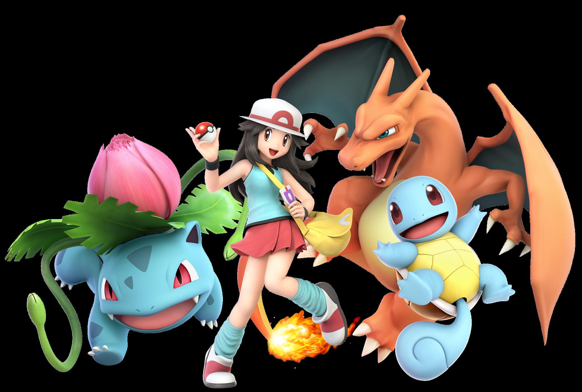 leaf female pokemon trainer render super smash brothers ultimate