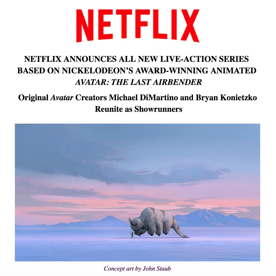 Live-action Avatar: The Last Airbender series is coming to