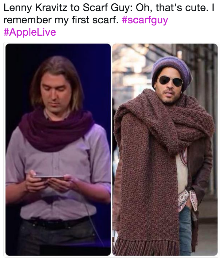 0758733b588 Lenny Kravitz to Scarf Guy  Oh