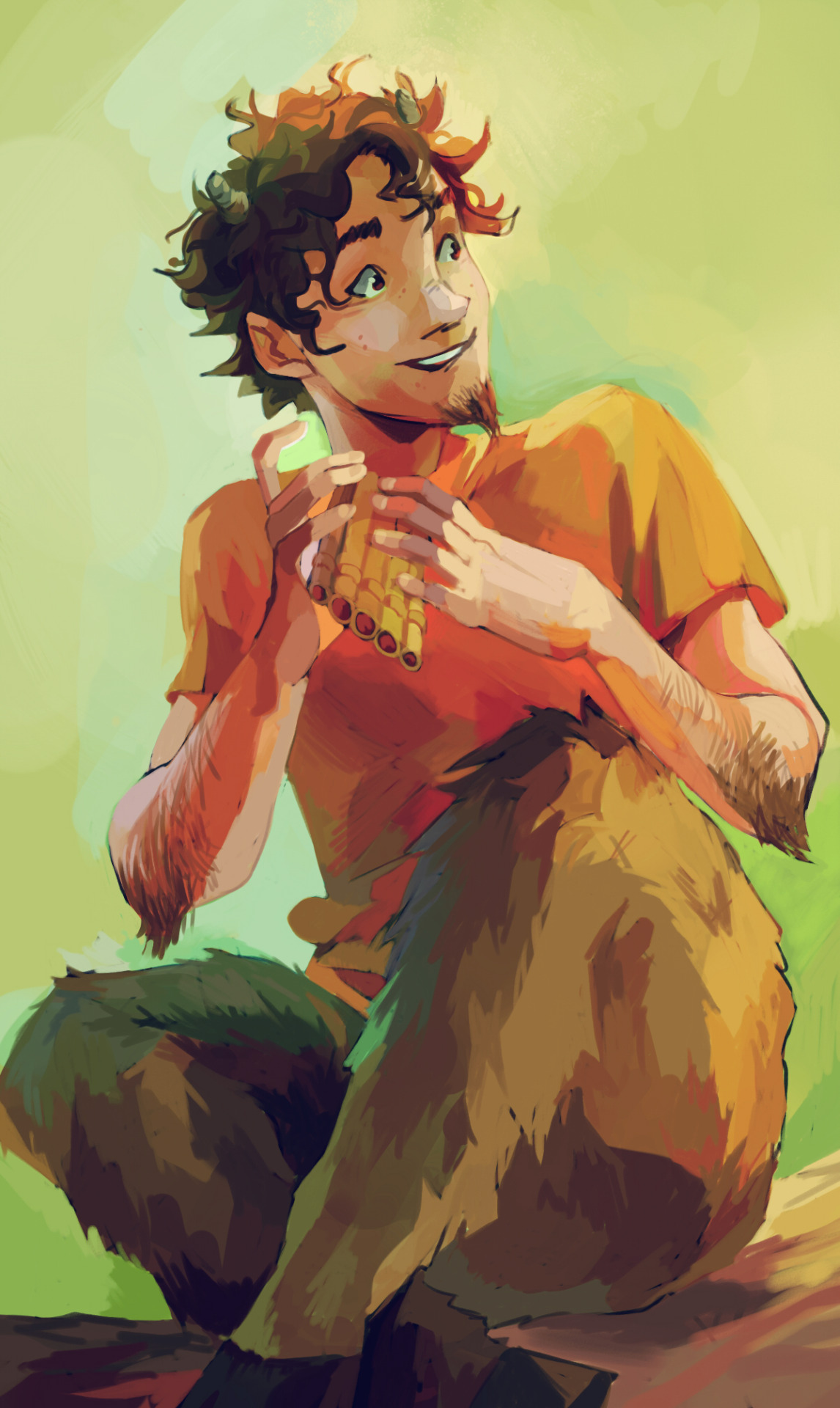 Official Grover Underwood Artwork By Viria Percy Jackson