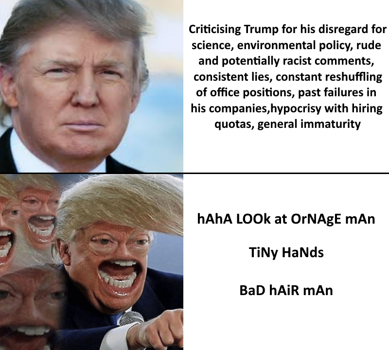 25d0a22ab Criticising Trump for his disregard for science, environmental policy, rude  and potentially racist comments
