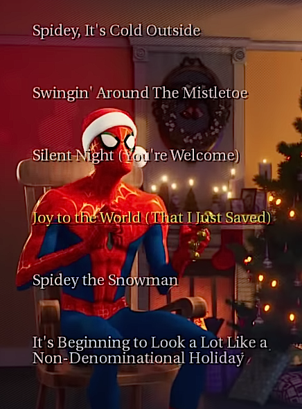 Spiderman Christmas.Spiderman Christmas Song Spider Man Into The Spider Verse
