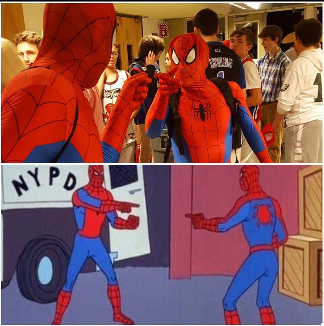 Картинка с человеком пауком двумя, днем