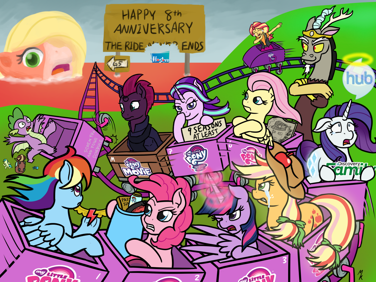 Hey, it's 8th anniversary for MLP:FiM Boy, there's only 1