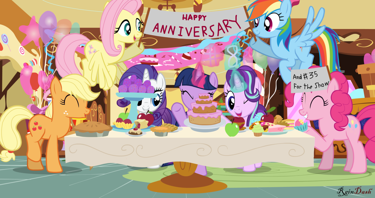 MLP: FiM anniversary by rainbowdashesp | My Little Pony: Friendship is  Magic | Know Your Meme