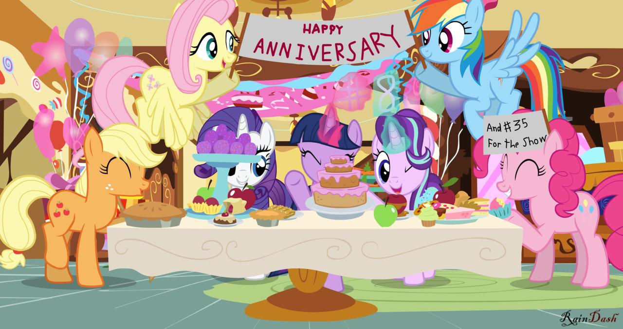 MLP: FiM anniversary by rainbowdashesp | My Little Pony: Friendship is  Magic | Know Your Meme