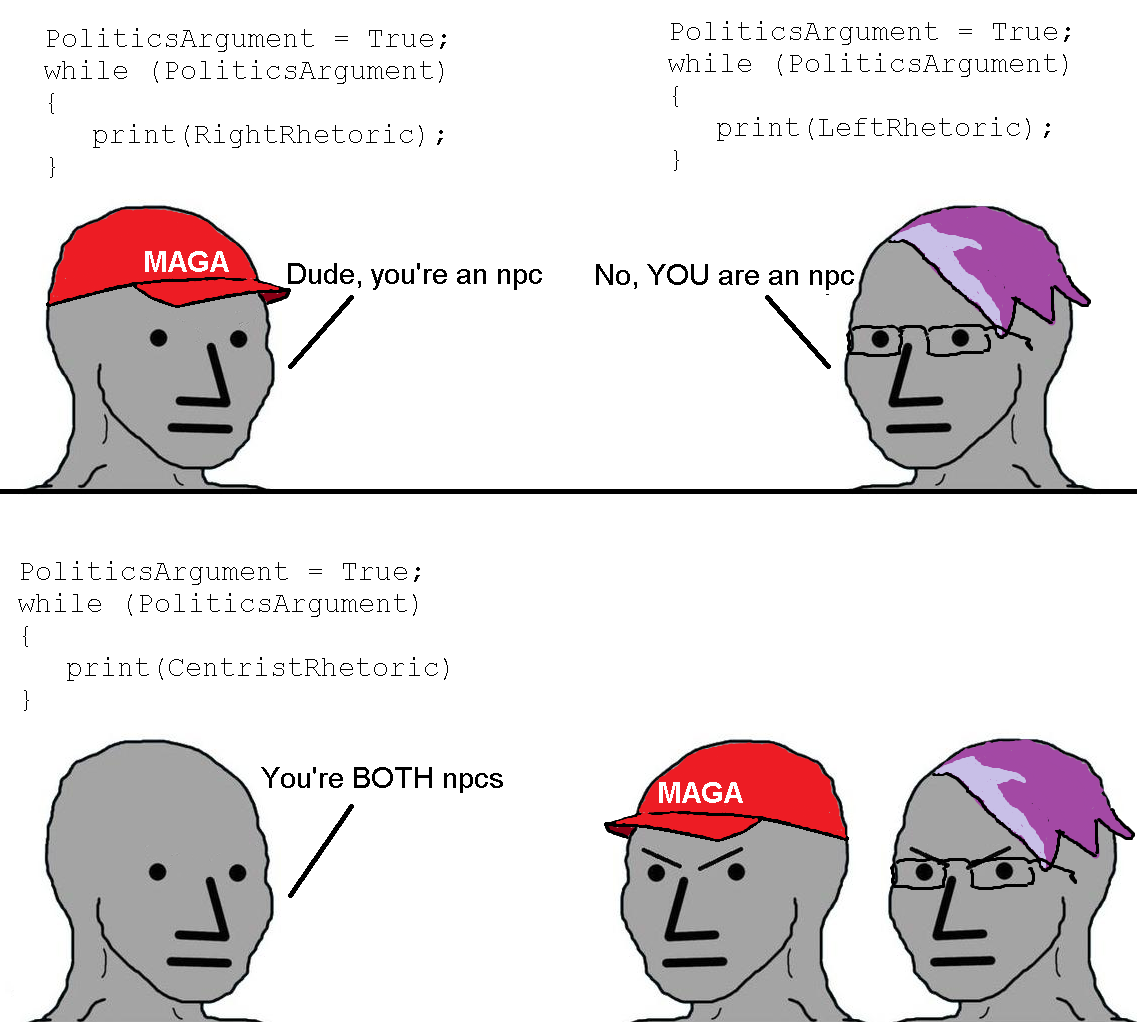 Npc wojak political discourse