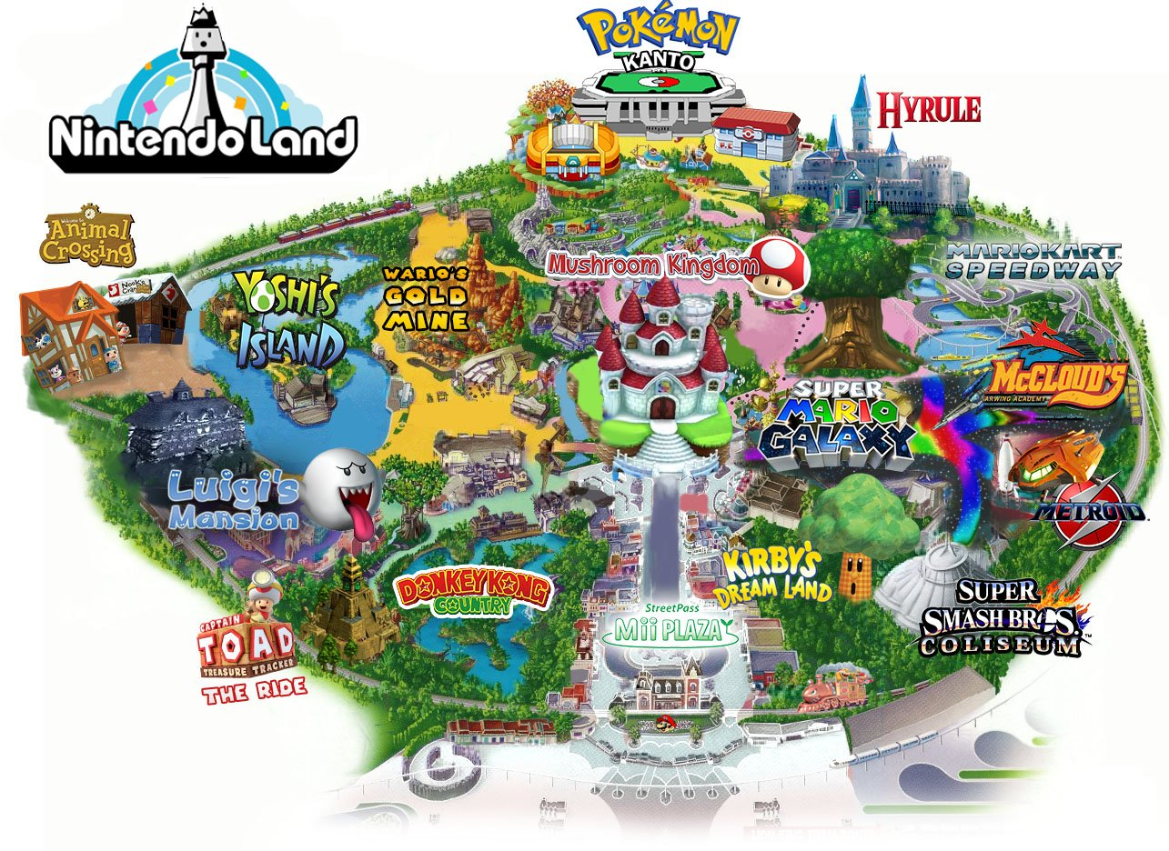 Nintendo Land Map Nintendo Know Your Meme