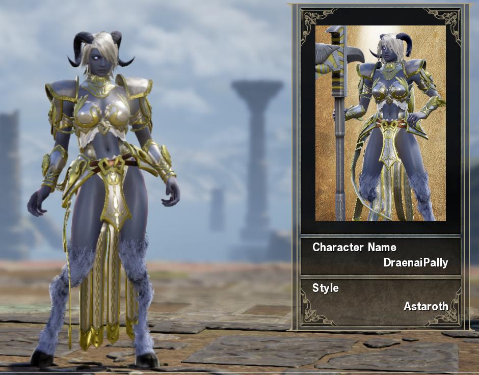 Female Draenei Paladin   SoulCalibur VI Custom Characters