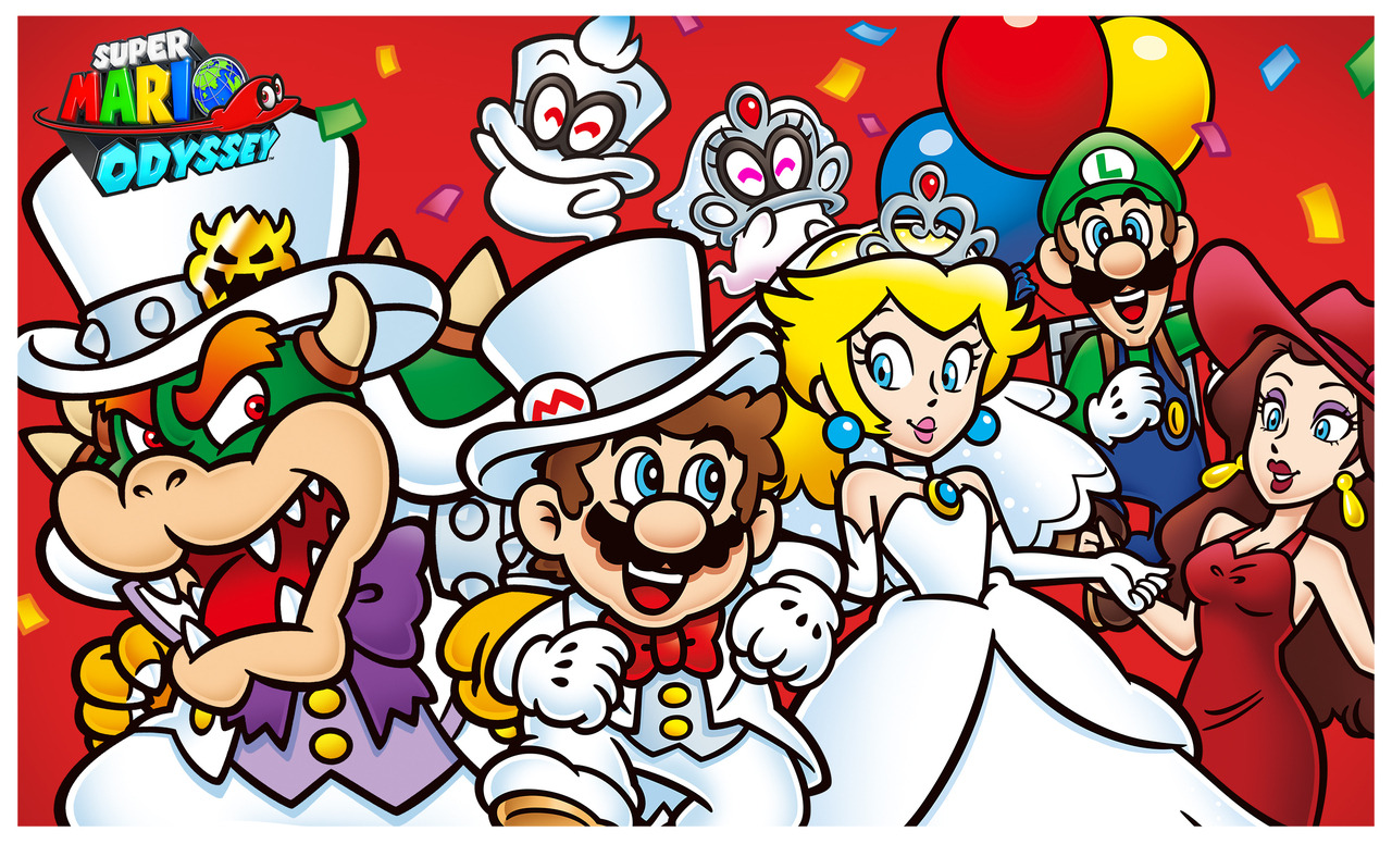 First Anniversary Illustration Super Mario Odyssey Know Your Meme