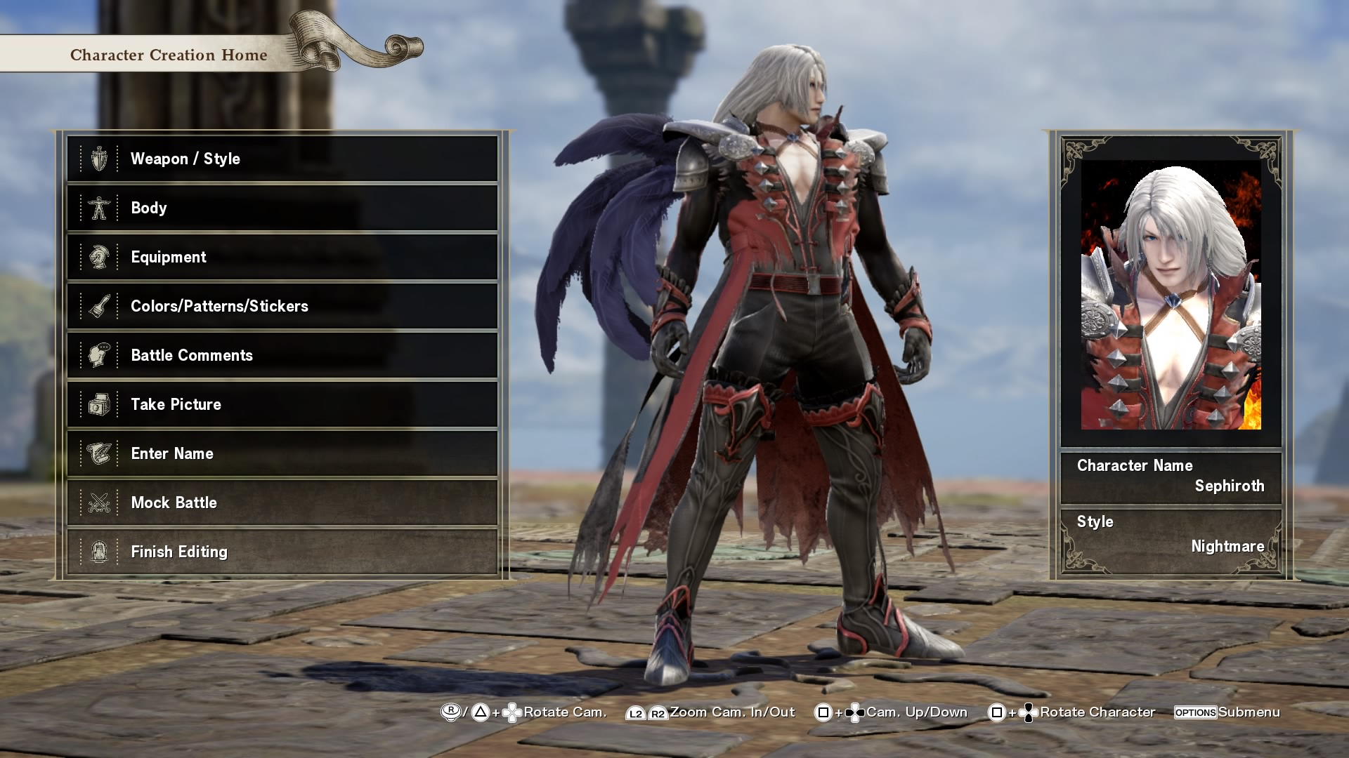 Kingdom Hearts Sephiroth | SoulCalibur VI Custom Characters | Know