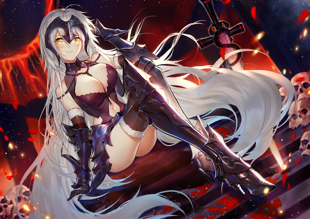 Jeanne Alter in lingerie | Fate/Grand Order | Know Your Meme