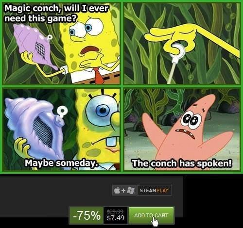 Image result for steam sale spongebob conch