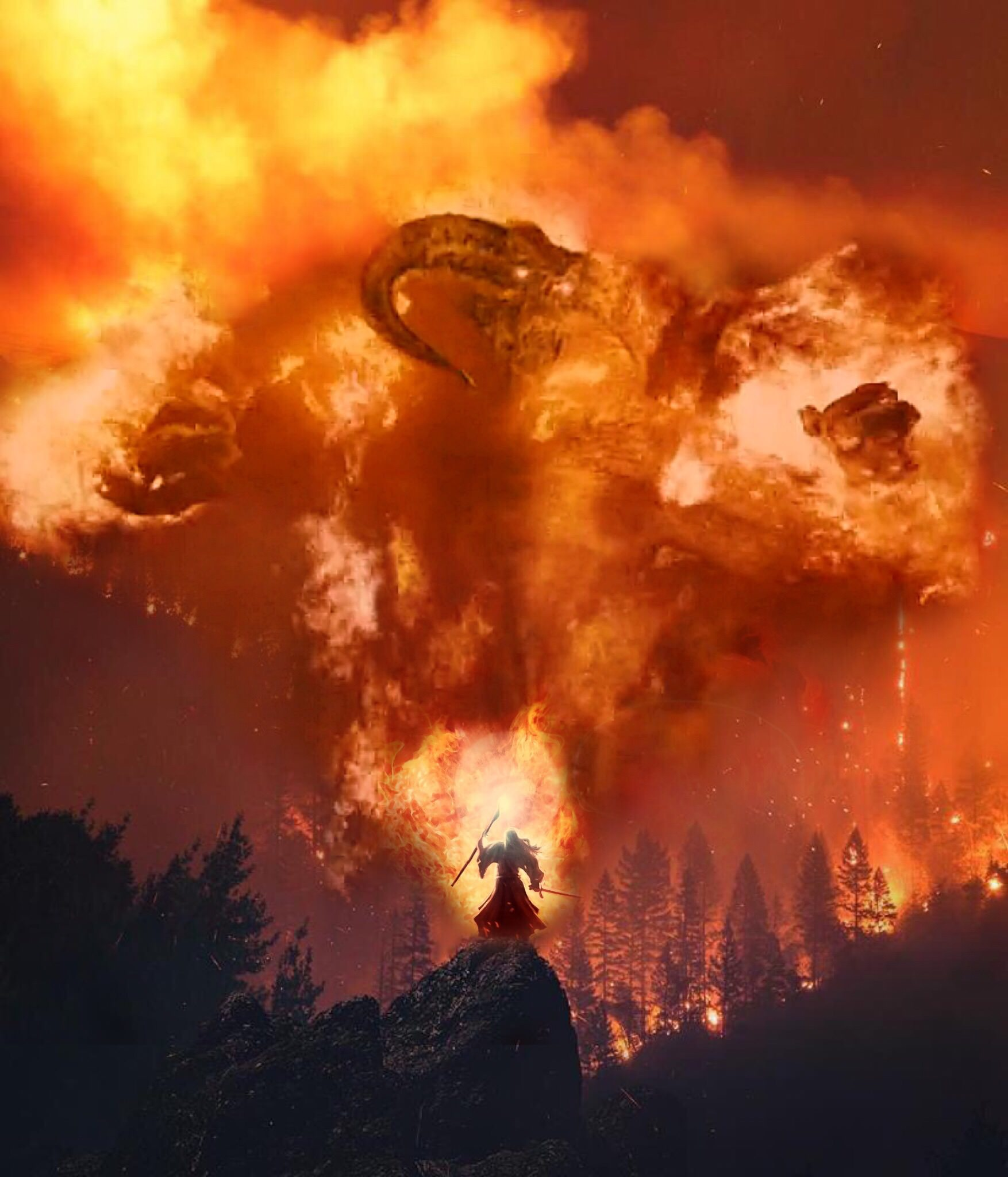 Gandalf You Shall Not Pass California Wildfires Know Your Meme
