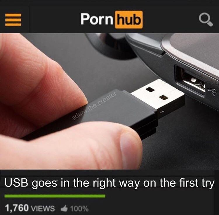 USB goes in the right way on the first try | Adam the