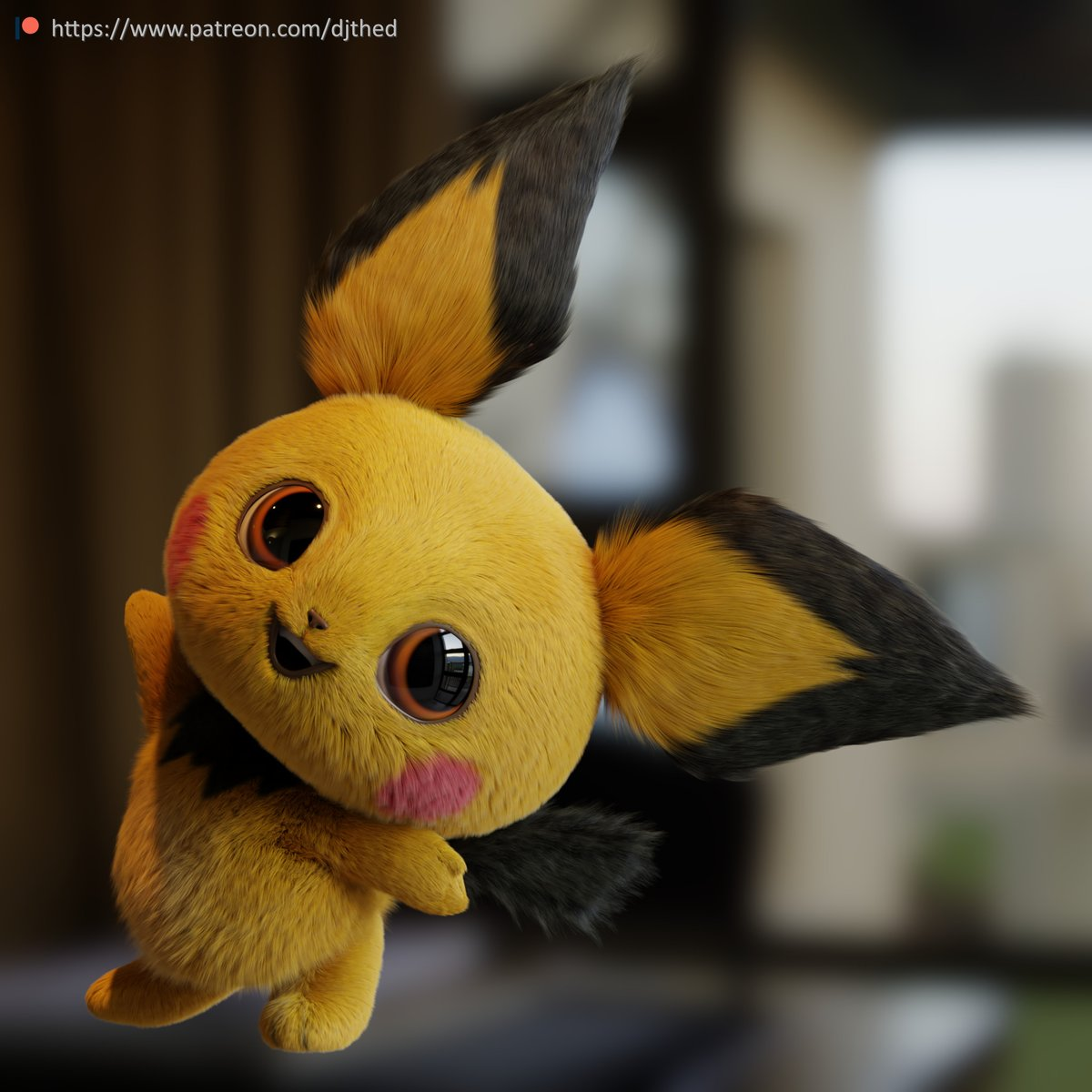 How Pichu would look in Pokemon Detective Pikachu by DJTHED
