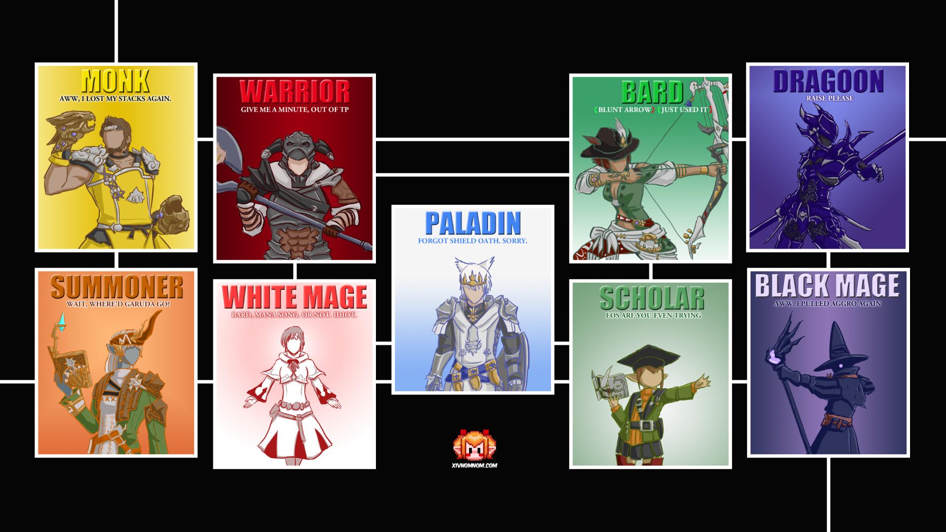 Ffxiv Job Slogan Wallpaper Final Fantasy Xiv Know Your Meme