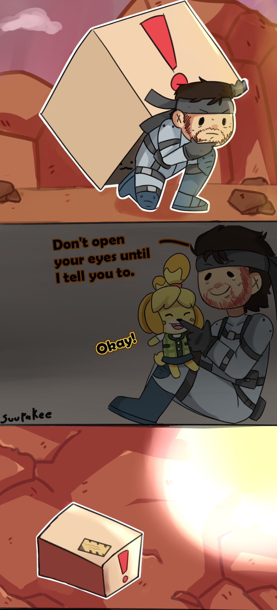 Don't open your eyes    (translated by adosta) | Super Smash
