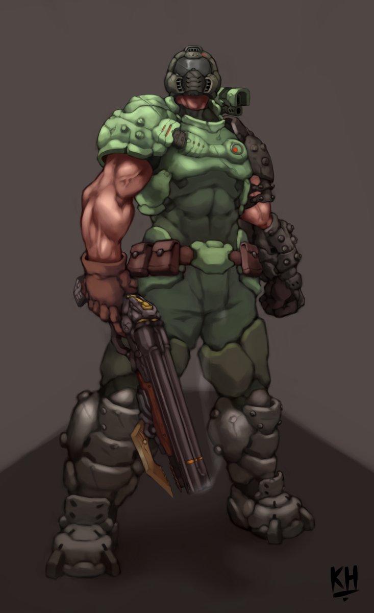 Eternal Slayer Armor Mixed With Classic Doomguy Armor Doom