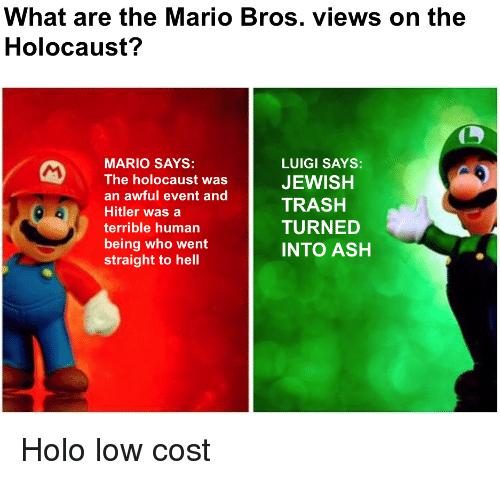 Mario Bros Views On The Holocaust Mario Bros Views Know