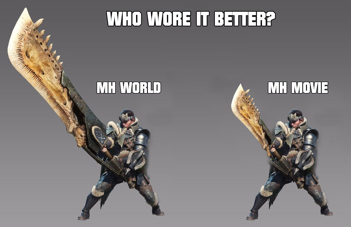 Who Wore It Better Monster Hunter Know Your Meme