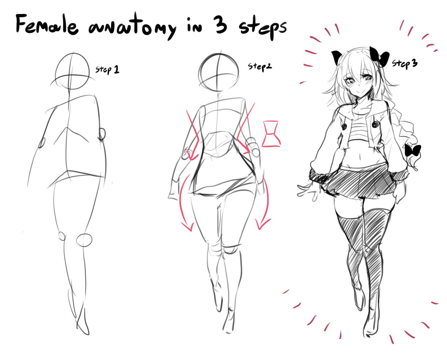 Female Anatomy In 3 Steps How To Draw An Owl Know Your Meme