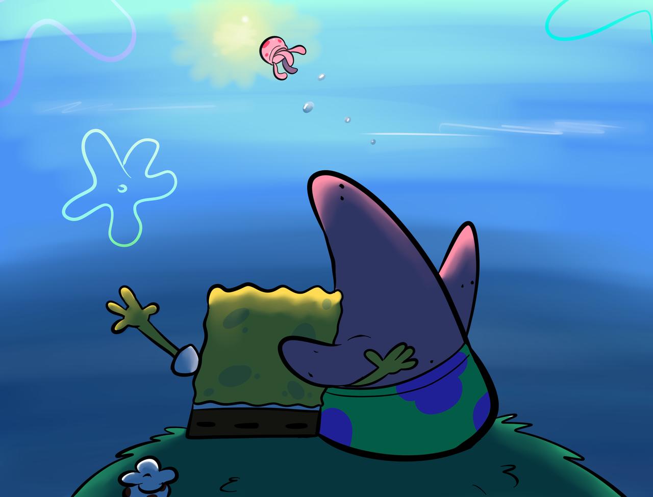 Cartoon vertebrate fish sky