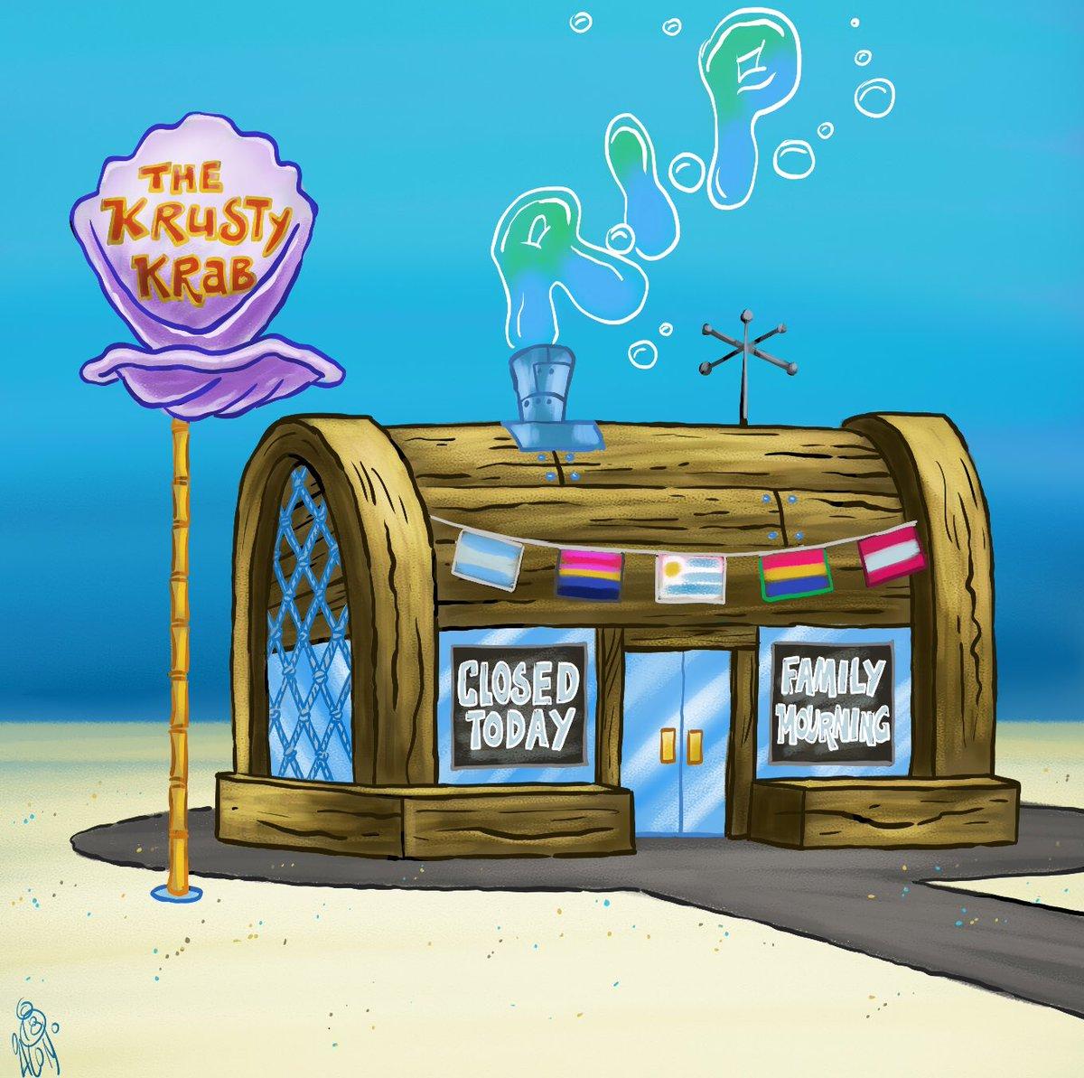 Spongebob Meme Entering Krusty Krab