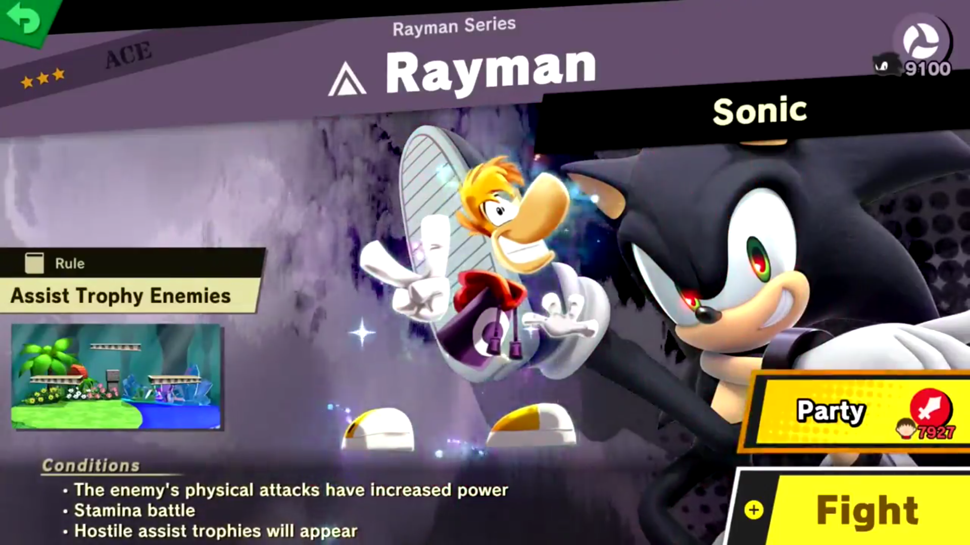 Rayman S Spirit Battle In World Of Light Super Smash Brothers
