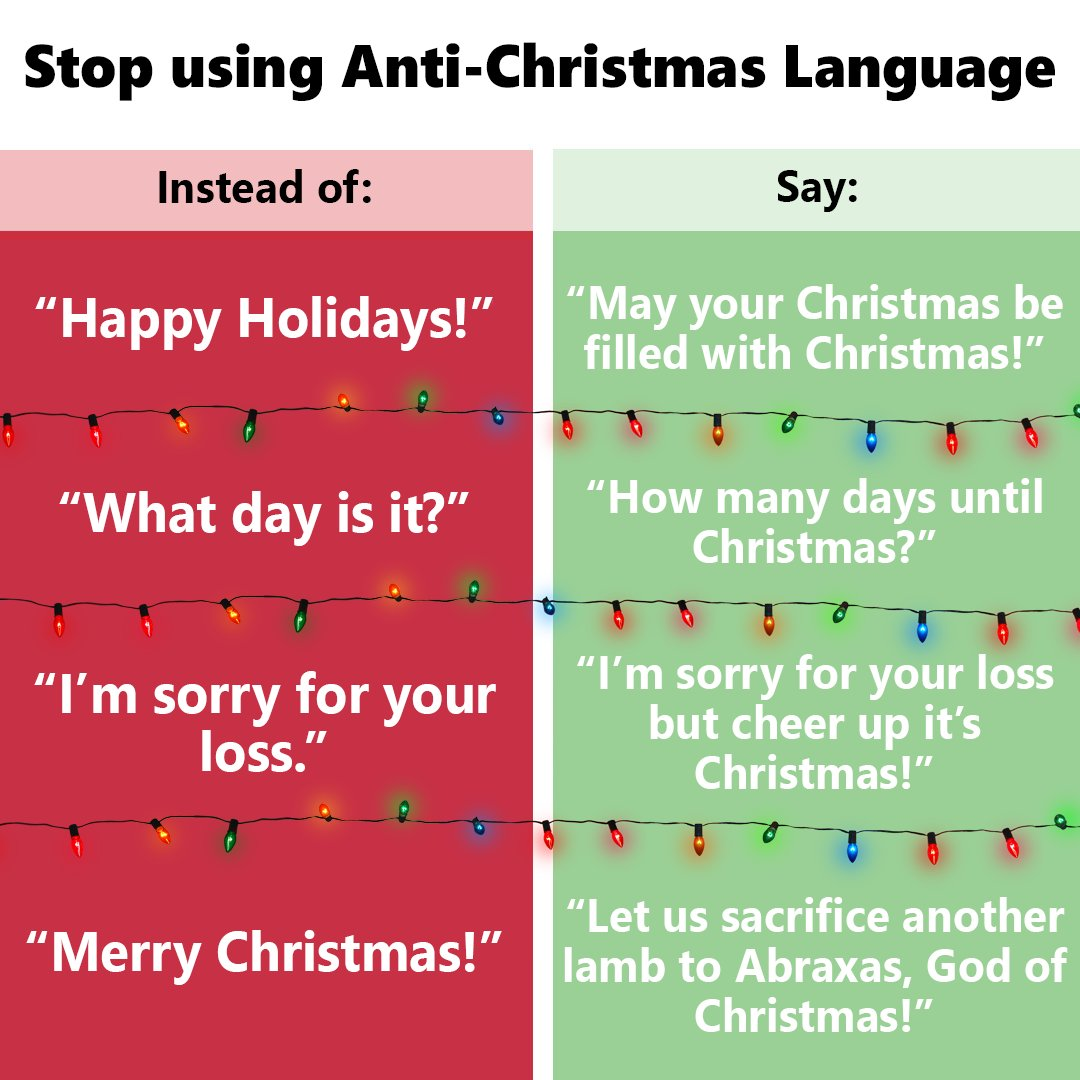How Many Days Until Christmas Meme.Stop Using Anti Christmas Language Stop Using Anti Animal
