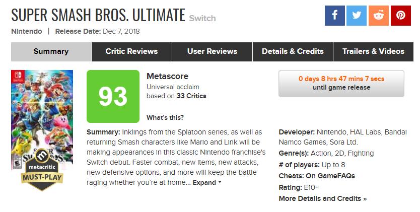 Metacritic nintendo games