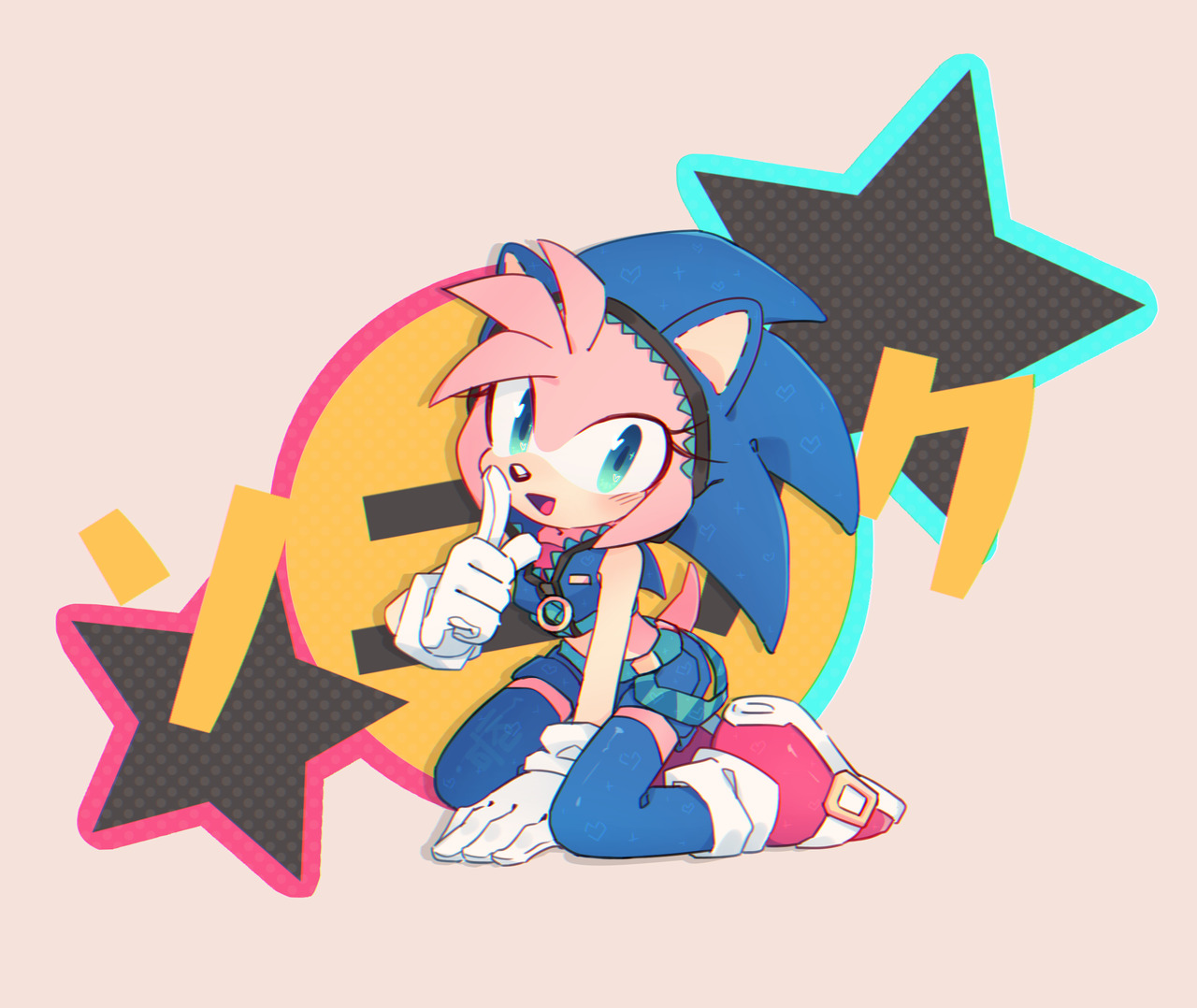 Amy Off Of Sonic did fine on the final but now can't face the teacher cause i