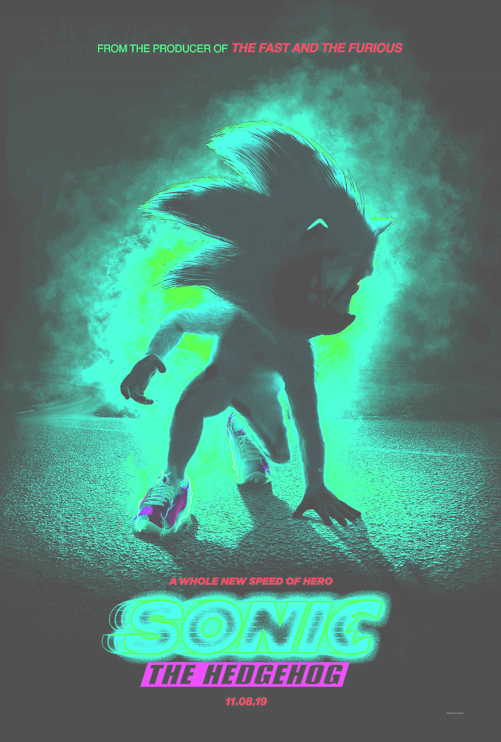 Enhancing The Sonic Movie Poster Helps It Look Slightly Less Worse