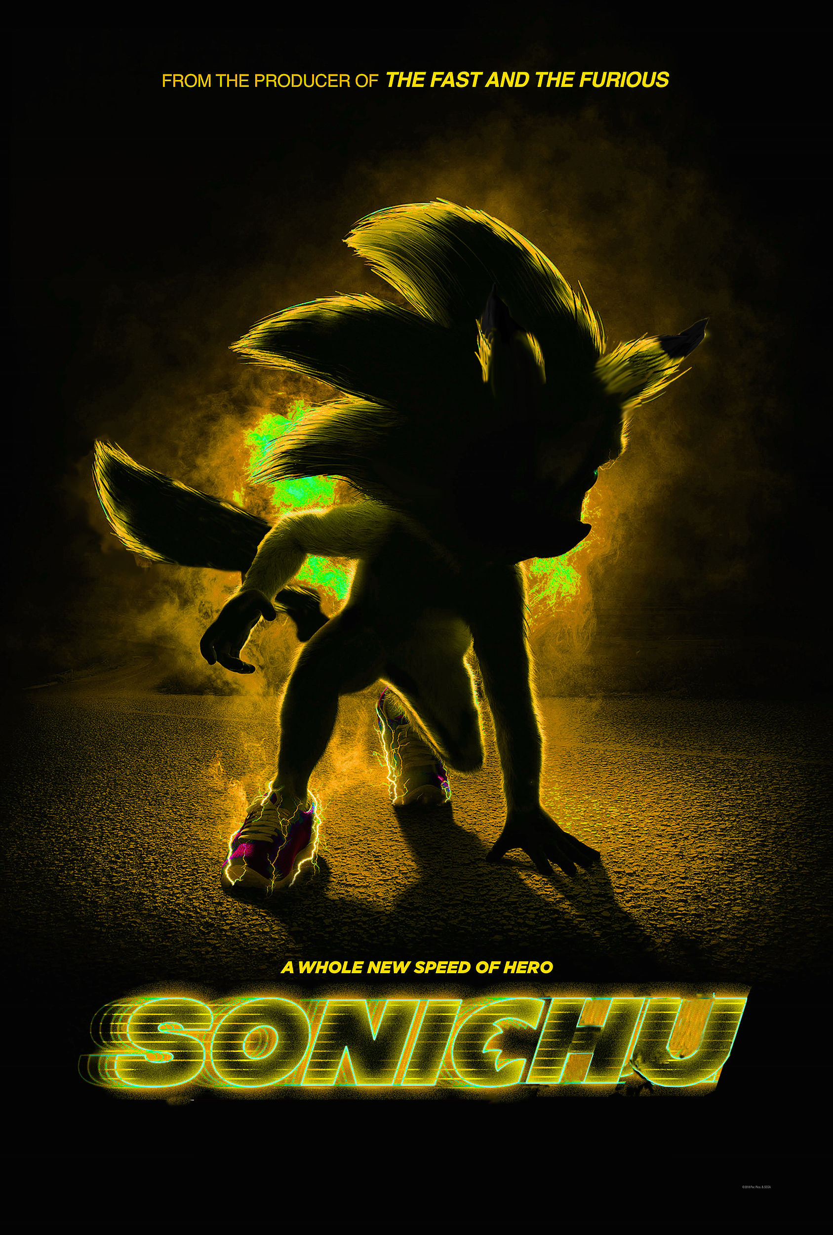 Sonichu The Movie Sonic The Hedgehog Movie Poster Parodies Know
