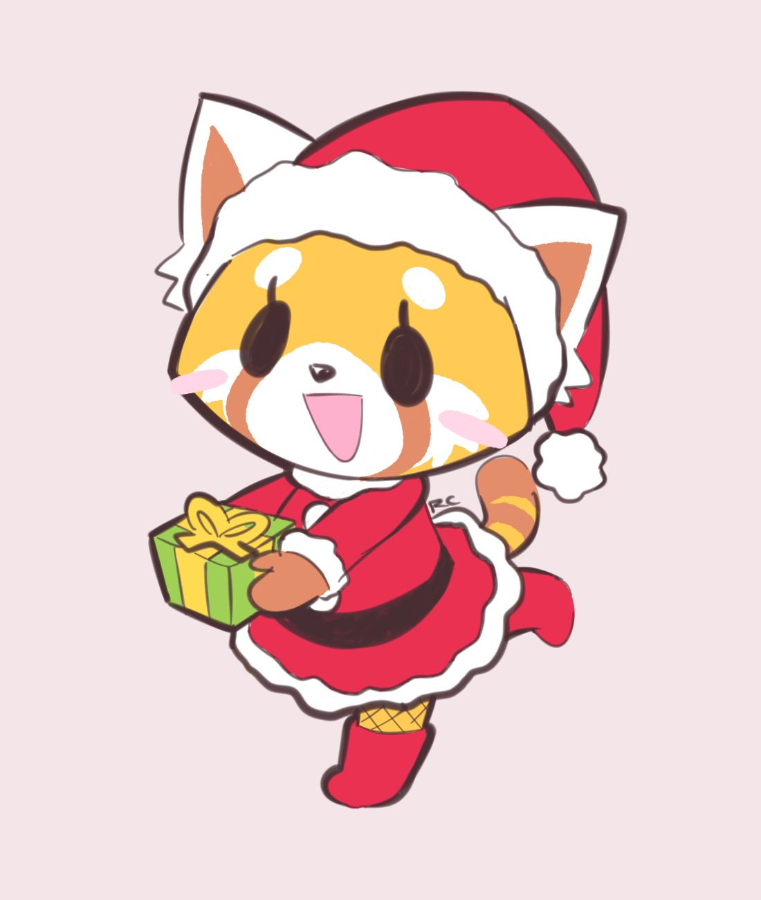 Aggretsuko Christmas.Christmas Retsuko Aggretsuko Know Your Meme