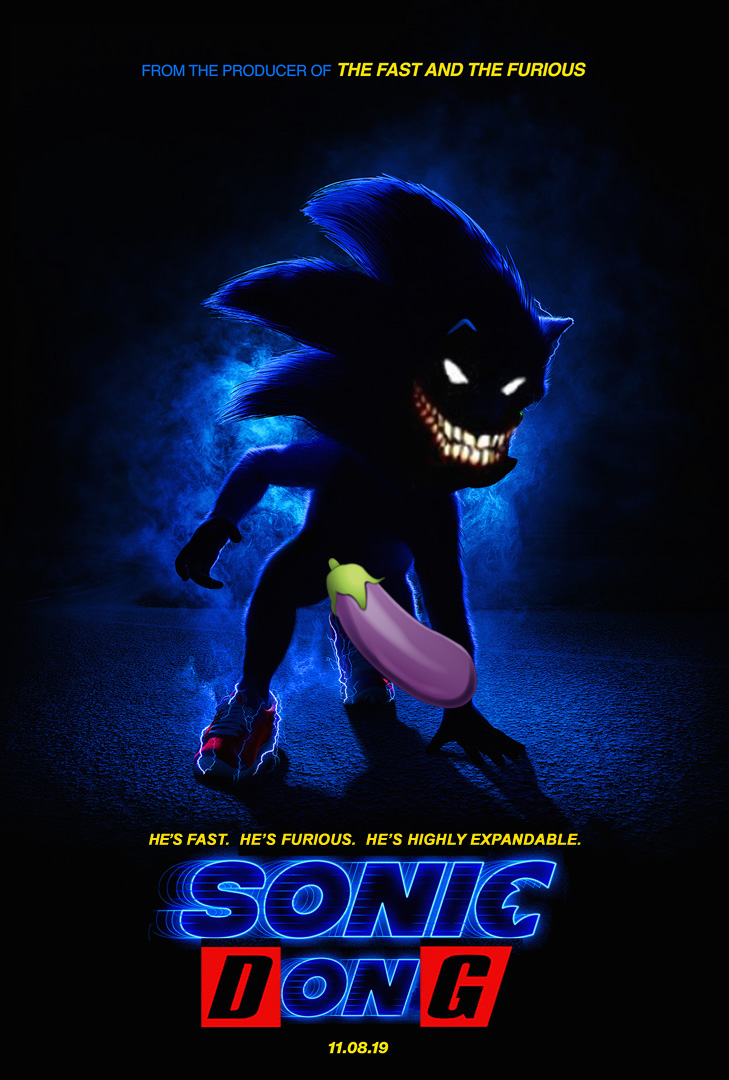 Sonic Dong Sonic The Hedgehog Movie Poster Parodies Know Your Meme