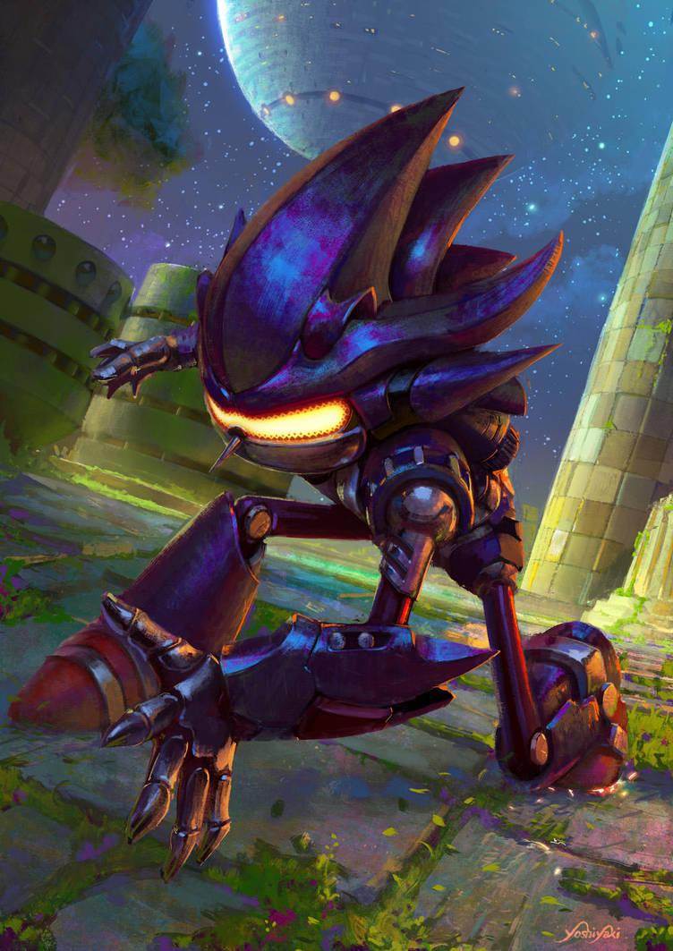 Mecha Sonic by yoshiyaki   Sonic the Hedgehog   Know Your Meme