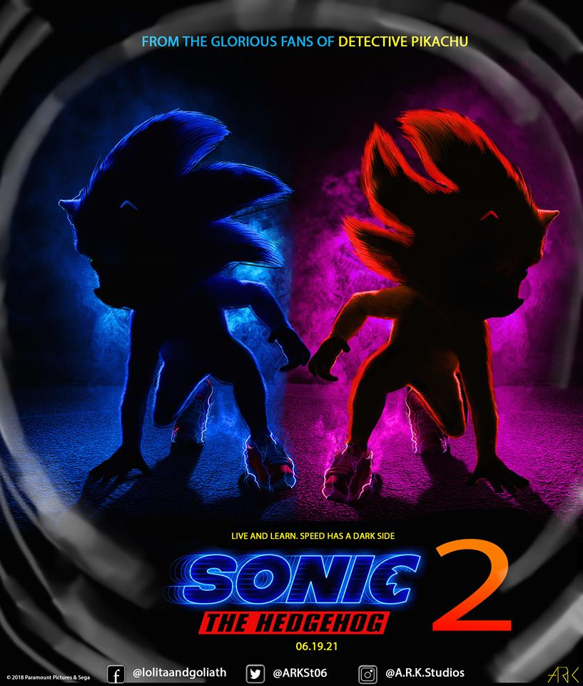 Sonic The Hedgehog 2 Movie Poster Sonic The Hedgehog Movie