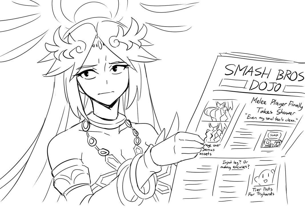 Smash doodles, Palutena is unimpressed | Super Smash