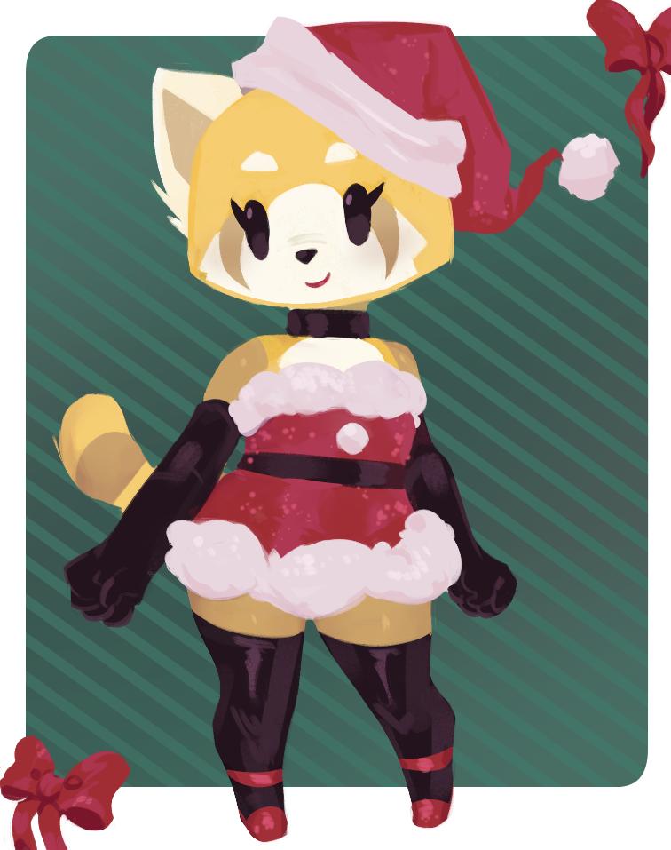 Aggretsuko Christmas.Christmas Retsuko By Vongulli Aggretsuko Know Your Meme
