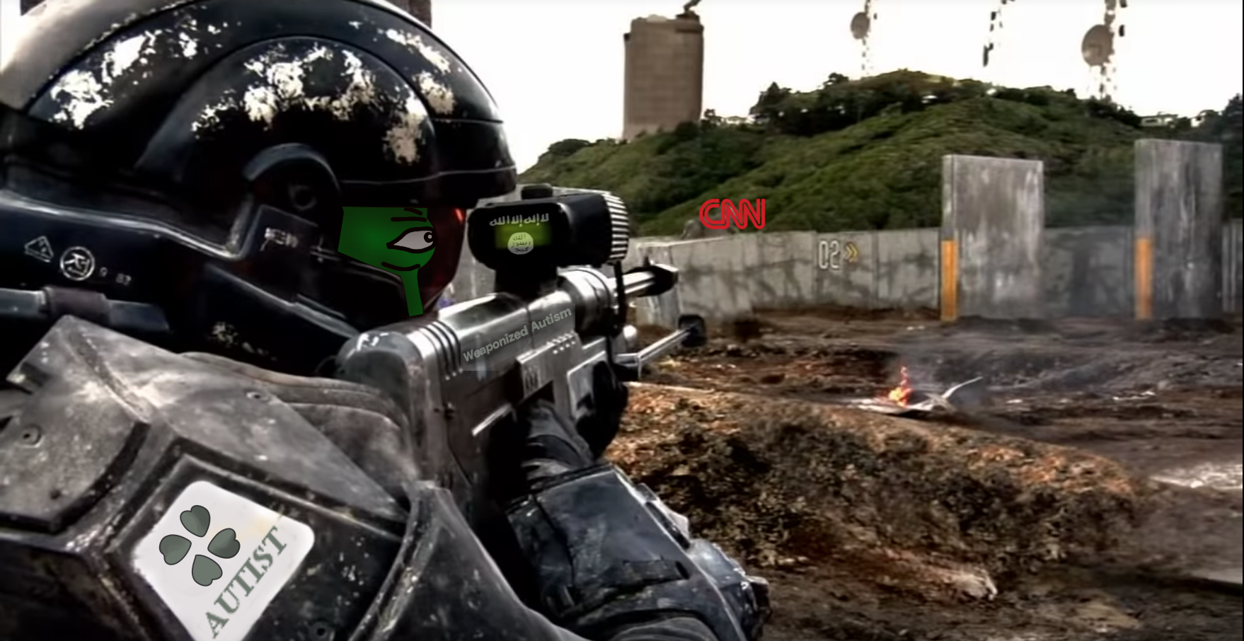 An Autist Sharpshooter During The Cnn Skirmishes Operation
