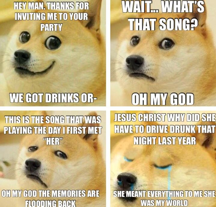 Doges Goes To A Party Ironic Doge Memes Know Your Meme
