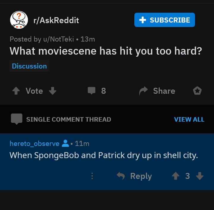 saddest movie scene | SpongeBob SquarePants | Know Your Meme