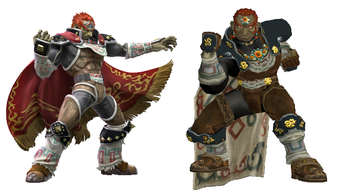 Ganondorf Ultimate And Melee Models Super Smash Brothers