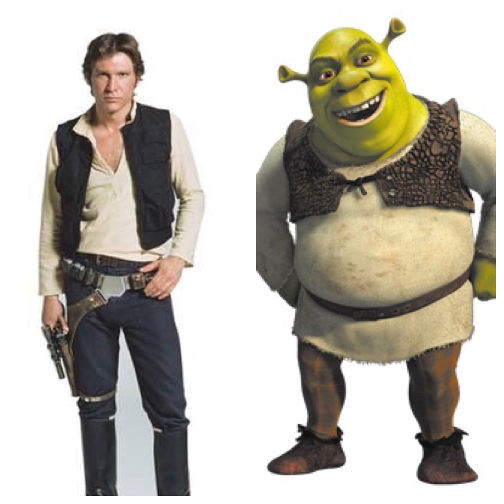Han Solo And Shrek Han Solo And Shrek Dress The Same Know Your Meme