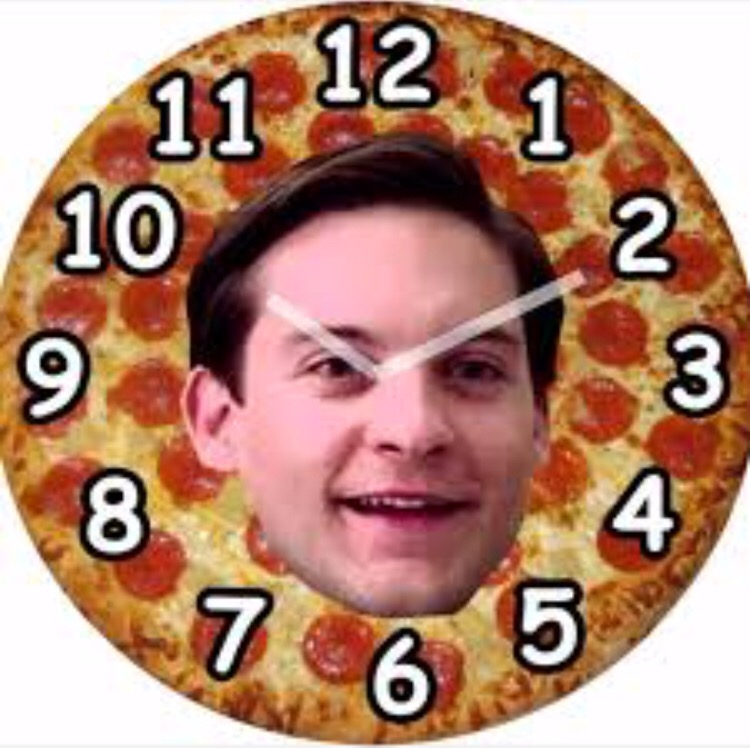 Pizza Clock Pizza Time Know Your Meme