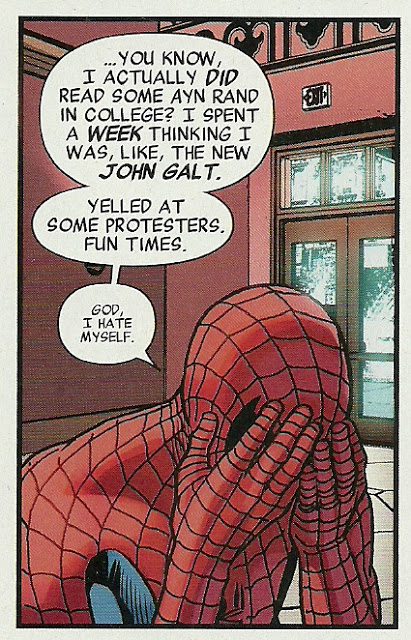 Image result for spider-man protest rand