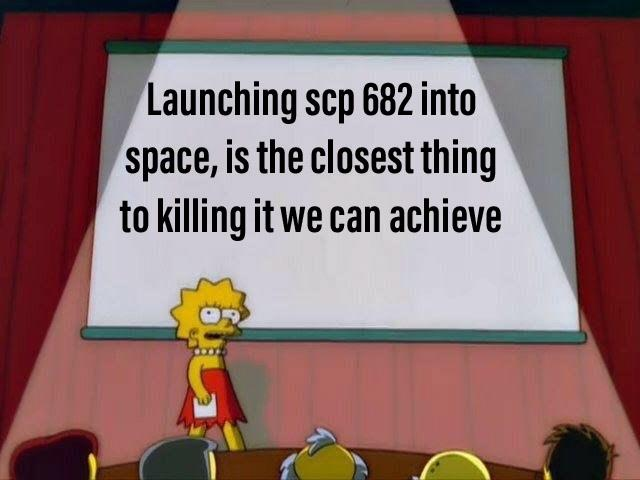 Space lizard | SCP-682 | Know Your Meme
